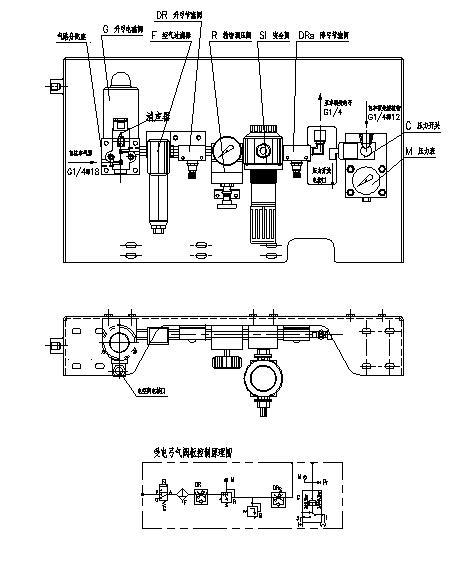 控制阀板气路图