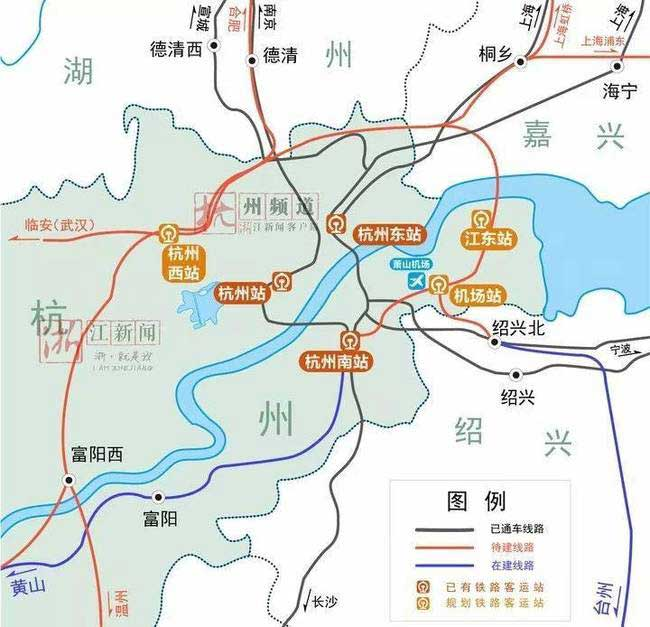 杭州江东站纽战略研究采购公告发布 将确定选址和通道选线