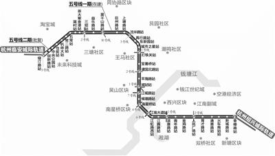 杭州地铁5号线38个车站拟定站名征求意见
